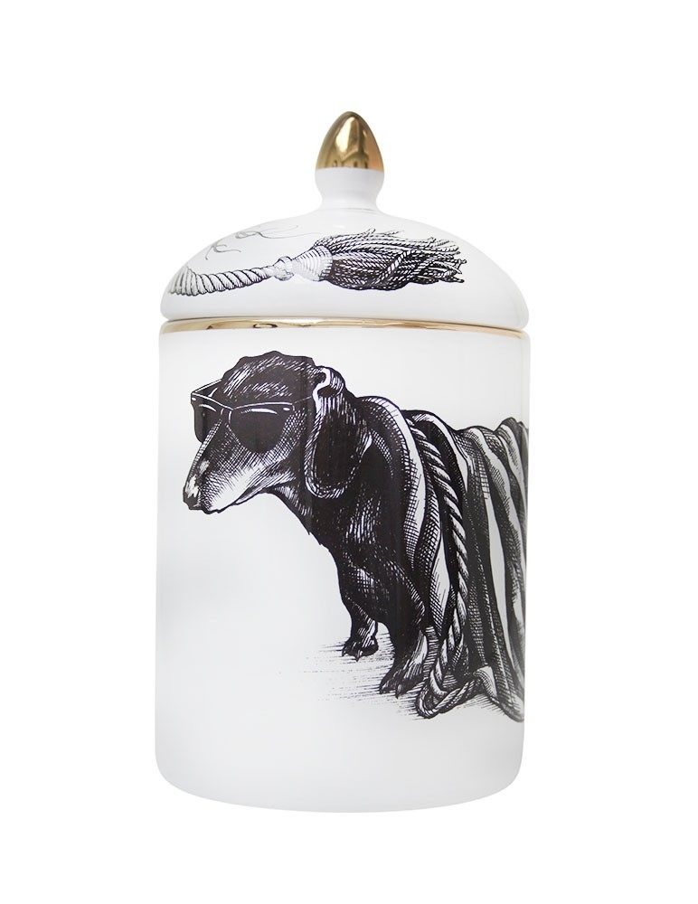 Hot Dog Stripey Cosy Candle