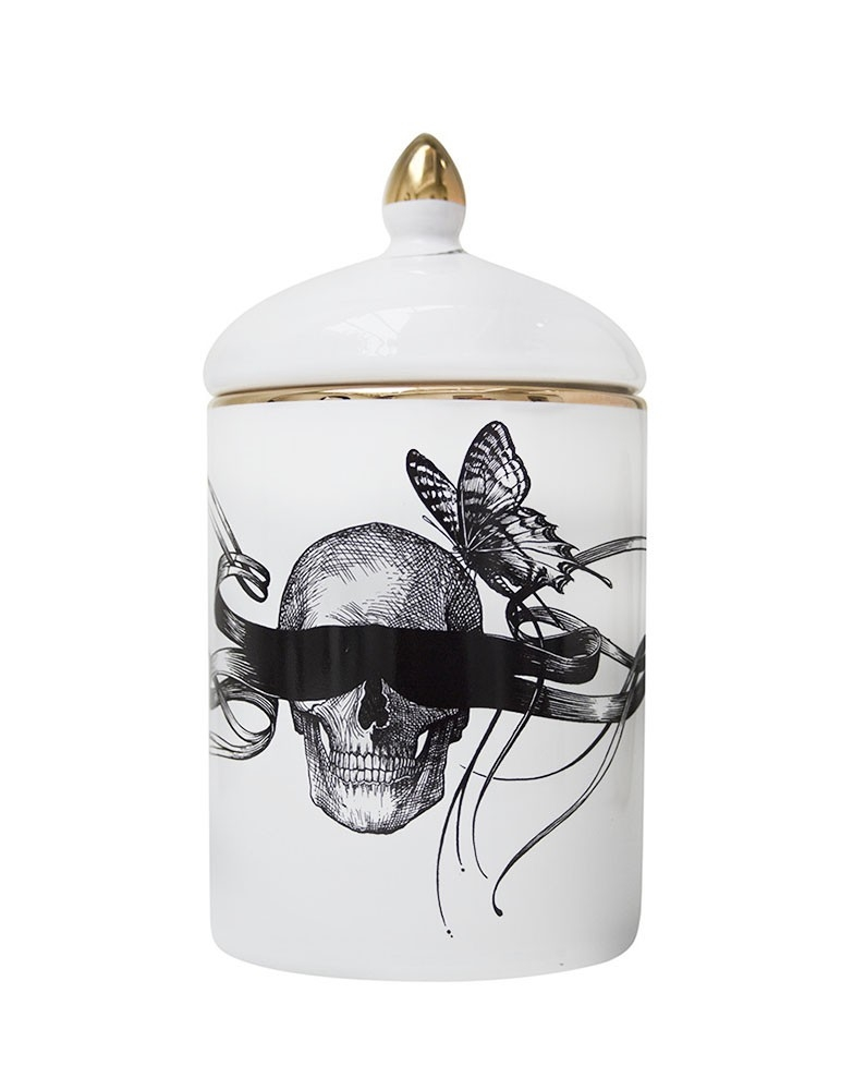 "Vela Perfumada ""Masked Skull / Time Flies"""