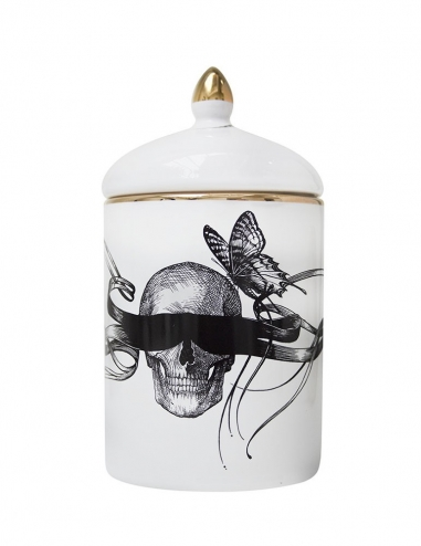 Masked Skull / Time Flies Cosy Candle