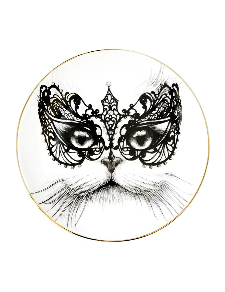 Masked Cat Plate
