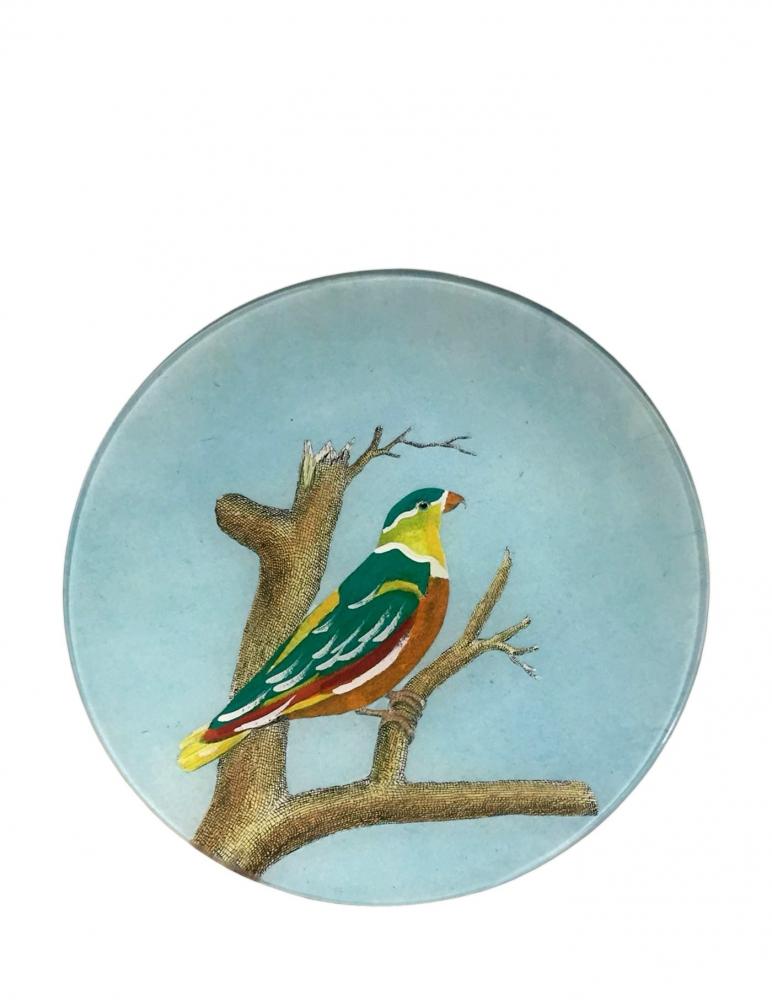 """Plato Redondo """"Pájaro del Cielo Loty"""""""