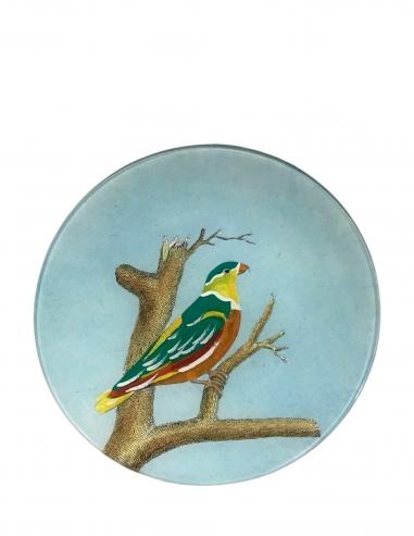 """Loty Sky Bird"" Round Plate"