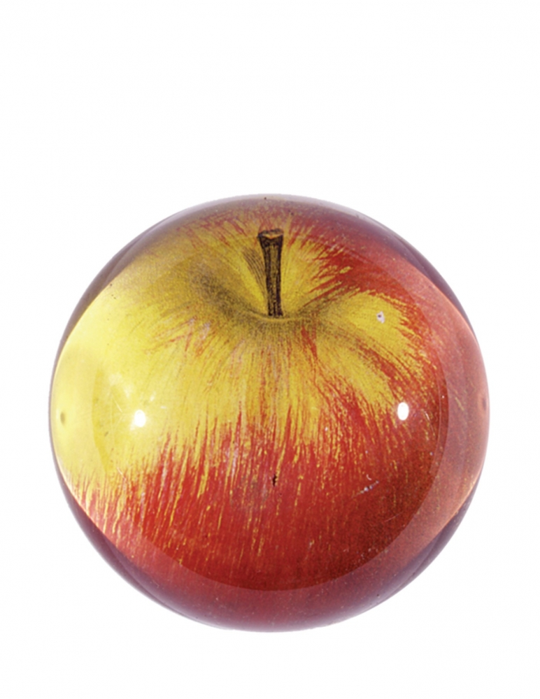 """Red Apple"" Dome Paperweight"