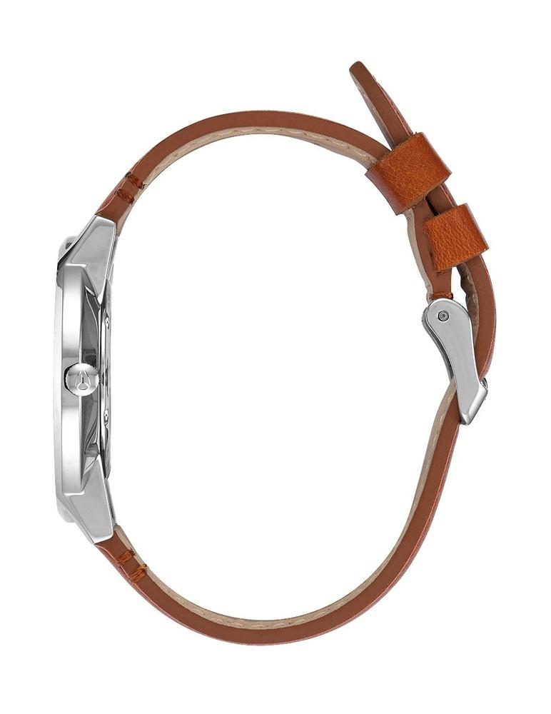 Porter Leather 40 mm Plata/Marrón