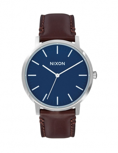 Porter Leather 40 mm Navy/Brown