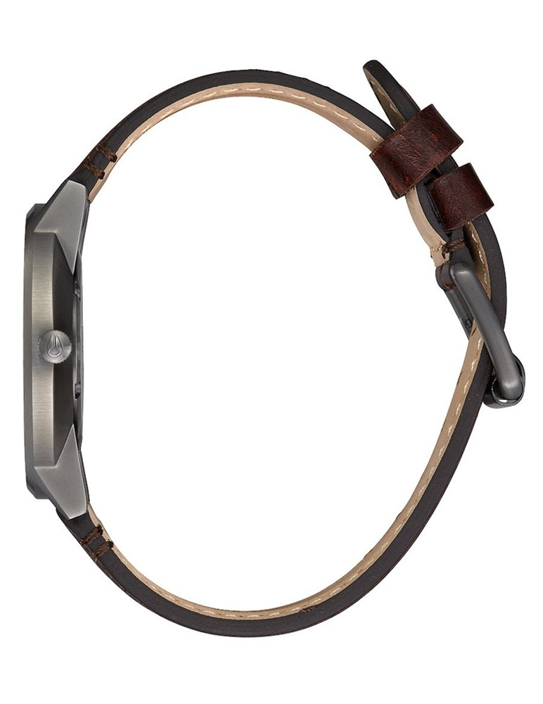 Porter Leather 40 mm Metal/Plata/Marrón