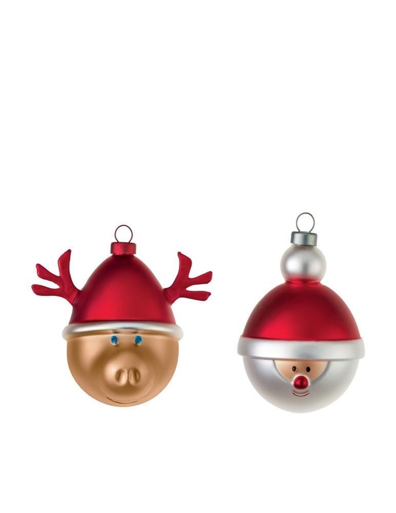 """Bolas de Navidad """"Babbarenna e Babbonatale"""""""