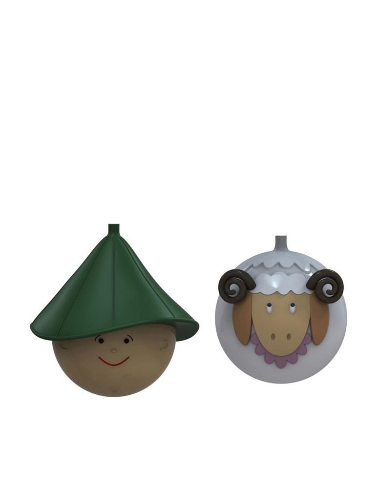"""Bolas de Navidad """"Pastorello e Pecorello"""""""