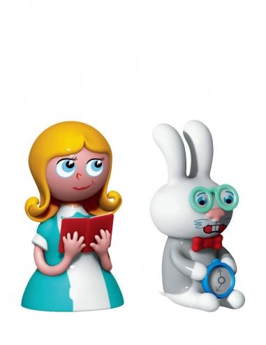 """Alice & The White Rabbit"" Figurine"