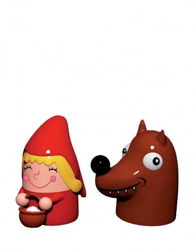 """""""Cappuccetto Rosso e il Lupo"""" Figurine"""