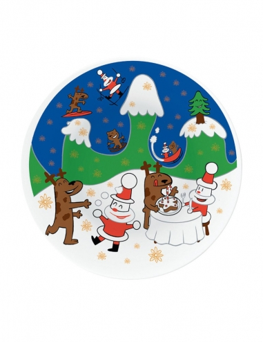 """""""Happy Snowtime"""" Christmas Plate"""