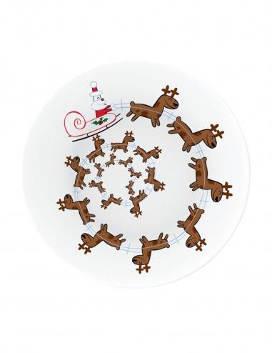 """""""Christmas Spiral"""" Christmas Plate"""