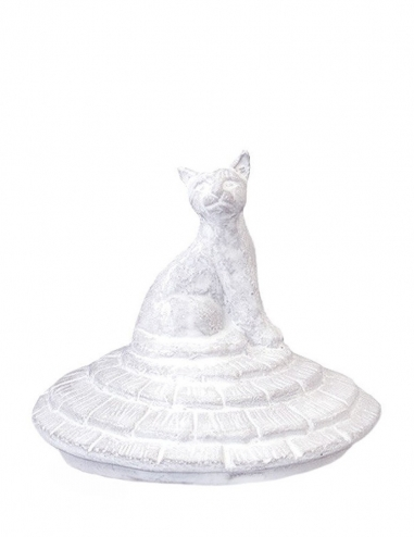 Grand Chalet Cat - Glass Candle Lid