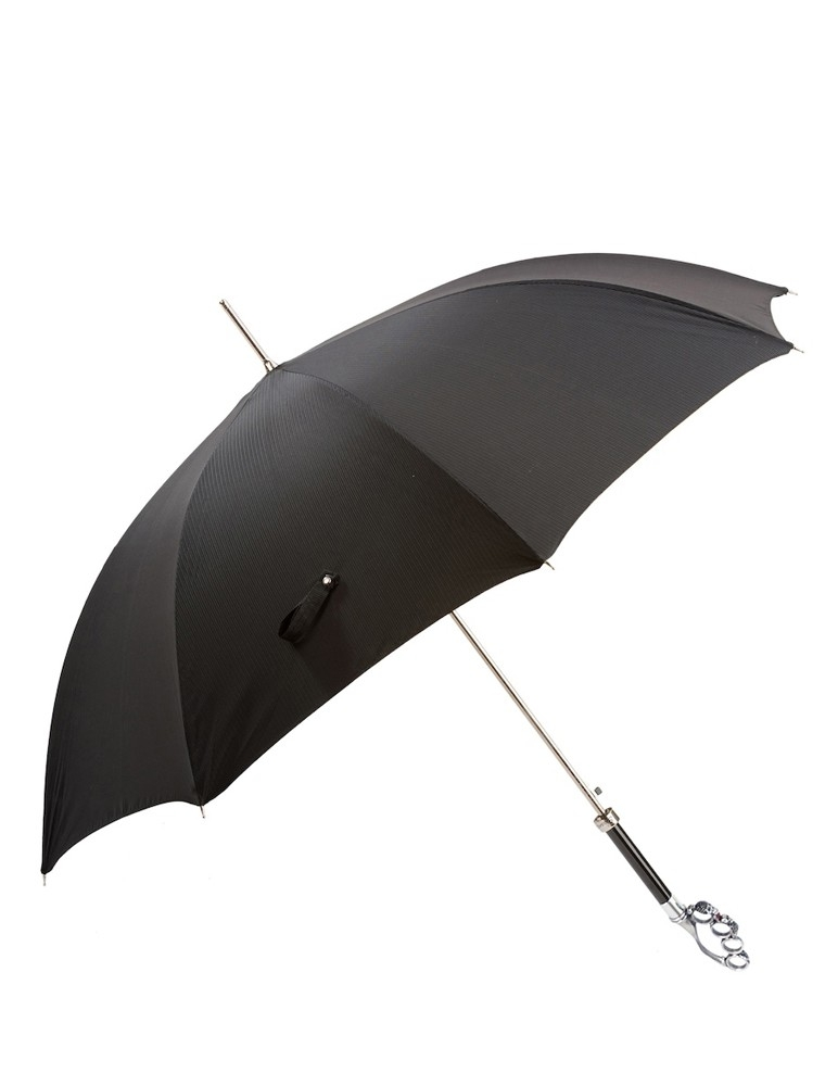 Paraguas Puño de Acero Plata