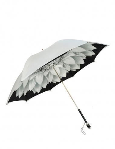 Silver Dahlia Umbrella