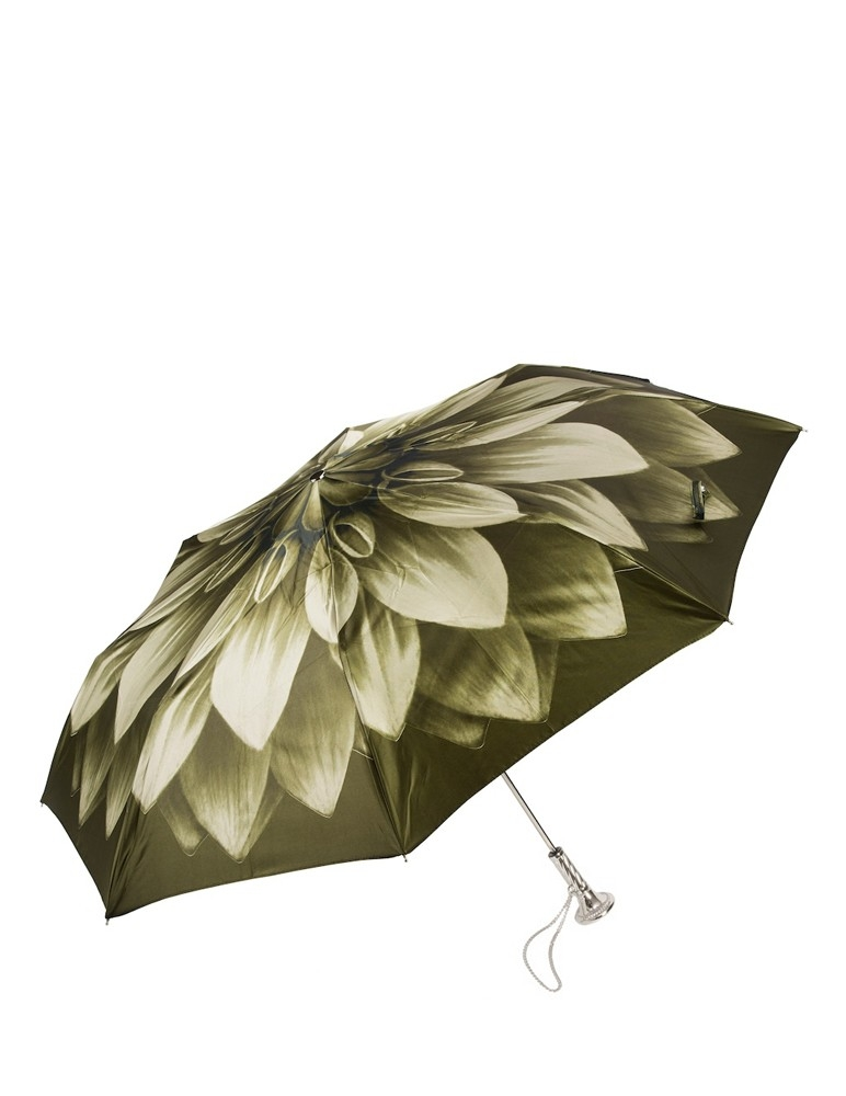 Green Dahlia Folding Umbrella