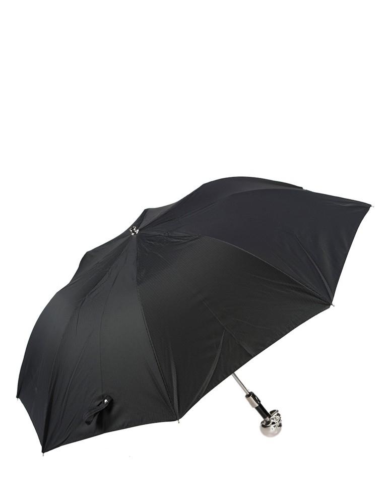 Silver Skull Folding Umbrella