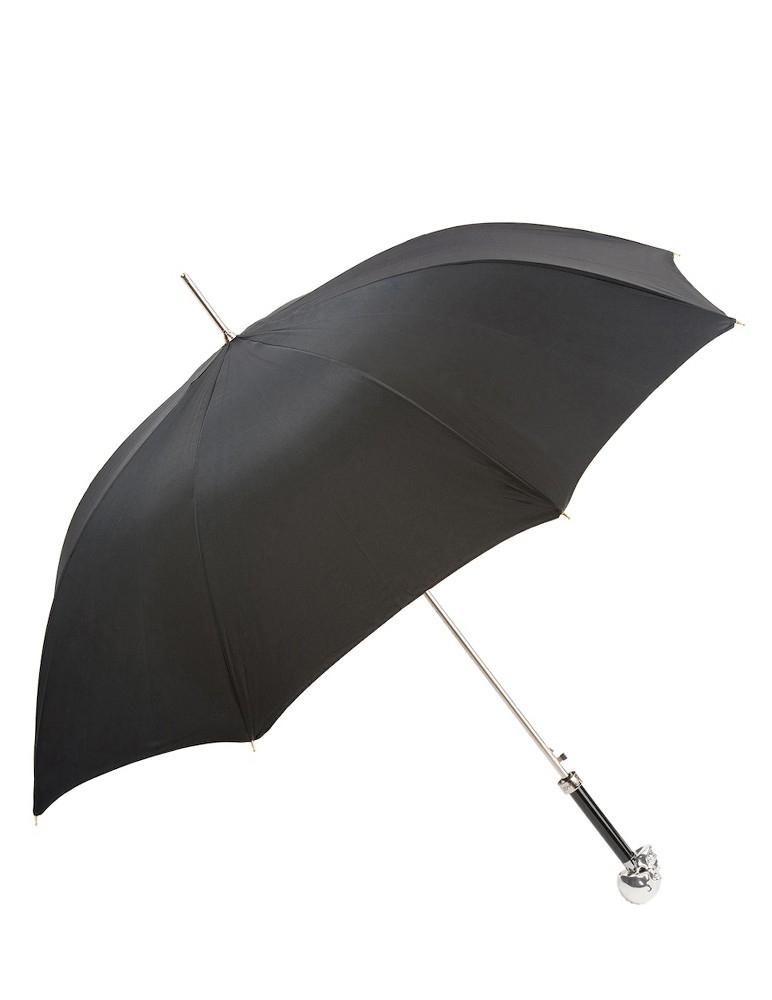 Paraguas Calavera Plata
