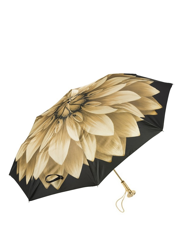 Gold Dahlia Folding Umbrella
