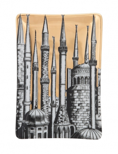 Cenicero rectangular 'Minareti' Oro