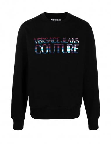 Logo crew-neck black sweatshirt